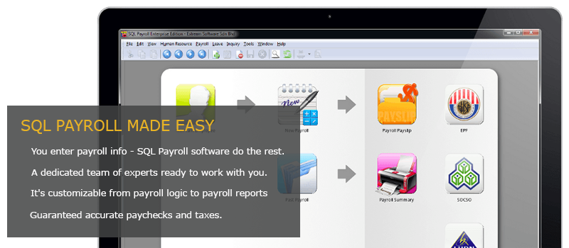 sql payroll is a simple user friendly payroll system which helps company to calculate their staffs monthly salary generate payslip payroll summary